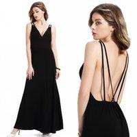 Wholesale Women Maxi Black Party Dresses Hot Women Summer Beach Chiffon Party Dresses Boho Long Street Evening Gowns FS0195