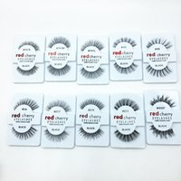 Wholesale 2016 hot Factory direct export red cherry red cherry handmade Natural false eyelashes Beauty Sale Free shining eyelash