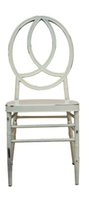 Wholesale wedding chair in aluminum frame thickness mm or mm bars under the seat from furniture manufactory