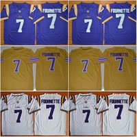 Wholesale Legend Patrick Peterson Tryann Mathieu Odell Beckham Jr Leonard Fournette New LSU Tigers College Football Stitched Jerseys