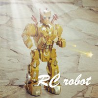 automatic radio - Best Gift Cartoon Brinquedos Gold flashing Remot control Robot Juguetes Action Figures Automatic Radio controlled robots for Kids