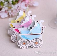 baby shower goods - BABY SHOWER BOXES Square Favour Boxes Pram Party Gifts Candy Lolly Brand New Good Quality
