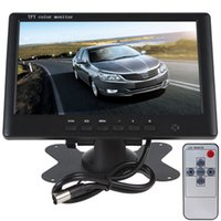 Wholesale 7 Inch Car Monitor High Resolution TFT LCD PAL NTSC Rearview Mirror Screen DC V V for DVD Camera VCR