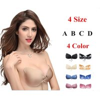 Wholesale Strapless Push Up Bra Magic Wing Adhesive Ropes Invisible Push up Bra Women Sex Bra Adjustable Seamless Free Bra Color ABCD Size