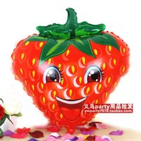 berry toy - lassic Toys Balloons P1105 Lovely smiling face strawberry style foil balloons kids birthday party toys fruits decoration berries balloons
