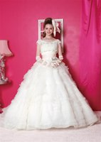 Wholesale Detachable Lace Jacket Ruched Pink Sash Ball Gowns Layer Organza Quinceanera Dress Sexy Dresses Young Dress