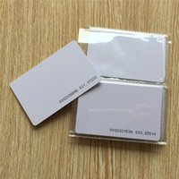 access blank - KHz Proximity Door Control Entry Access Blank White Unique id number pre printed RFID Card ID card EM card