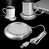 Wholesale 2016 Hot USB Insulation Coaster Heater Heat Insulation electric multifunction Coffee Cup Mug Mat Pad New