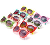 baby eye glasses - Fashion Kids Child Polarize Cat Sports Sun Glasses Sunglasses Baby For Girls Boys Outdoor Designer Sunglasses Candy Colors Free Ship S1032