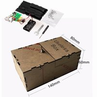 Wholesale Personality DIY Leave Me Alone Box Useless Box Black Kit New Unassembled Great Cool Gift