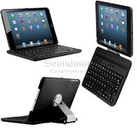 aluminium laptops - iPad Mini Degree Rotating Wireless Keyboard Aluminium Pull Out Bracket Laptop Style Keys For Ipad Mini With Retail Box