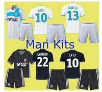 Wholesale 16 Marseille Soccer Jerseys MAR Shirts Sets Batshuayi Alessandrini Cabella Isla Sarr Home Away Football Kits Soccer Uniforms Jersey