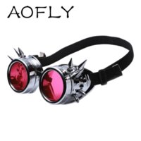 antique eyewear - AOFLY COLORS Rivet Welding Goggles Gothic Steampunk Cosplay Antique Spikes Vintage Victorian Glasses Steampunk Men Eyewear