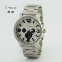 american watch brands - New Brand S waves American Men s Date Stainless Steel Wristwatches Casual Fashion Army Hour Dial Masculino Relogio Reloj Quartz Watches