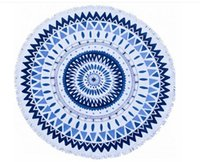 Wholesale COTTON Round Beach Towel cm Bath Towel Tassel Decor Geometric Printed Bath Towel FREE SACRF GIFT
