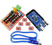 Wholesale CNC and D Printer Control Board Kit Mega R3 control plus RAMPS with A4988 drive with cooling fin
