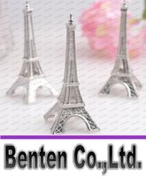 Wholesale quot Evening in Paris quot Eiffel Tower Silver Finish Place Card Holder Set of Wedding Favors Gifts Party Favors baby shower LLFA6129