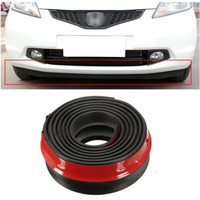 Wholesale 2 X M ROLL Car Front Rear Bumper Protectors Lip Splitter Spoiler Skirt Adhesive Protector Rubber Black CAL_606