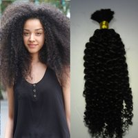 Wholesale Natural Mongolian Afro Kinky Bulk Hair g Kinky Afro Hair Bulk Human Hair For Braiding Bulk No Attachment Kinky Curly Mongolian Bulk Hair