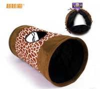 Wholesale Top selling leopard print extra soft cloth keep warm cat tunnel with rustling sound
