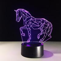 Wholesale 2016 Horse D Optical Illusion Lamp Night Light DC V USB AA Battery Dropshipping