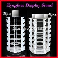 Wholesale Holding Of Sunglasses Rotating Eyeglasses Sun Glasses Display Stand Holder With Mirror FX03
