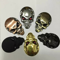 Wholesale 10 High Quality Skull Devil D Motorcycle Car Emblem Badge Logo Decal Stickers Car Styling Sticker Accessories colors for choices