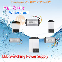 Wholesale DC V A W AC Transformer Rainproof Switch Power Supply for Led Strip CE RoHS Standard