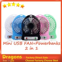 Wholesale Wireless in Mini Micro USB Mobile Phone Fan Portable Mobile Power Lithlum Battery Fan and Power banks