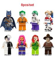 batman collection - 8pcs set Decool DC Super Heroes Riddler Batman Joker Bane Minifigures Building Blocks figures collection kids toy gift legoed