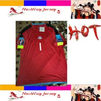 Wholesale 02 BUFFON red FANS version goalkeeper jersey customize patches