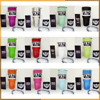Wholesale Colorful YETI Cup oz Cup Rambler Tumbler Vehicle Beer YETI Mug Tumblerful Bilayer Vacuum Insulated Stainless Steel colors