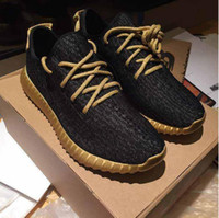 Wholesale Running Shoes Original Box Special offer Kanye Milan West Boost Pirate Black Gold Bottom Low Sports Shoes For Men And Women