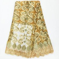 Wholesale high quality african lace fabric in nigerian lace fabric for party dress in colors in yards