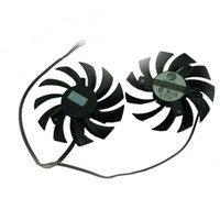 Wholesale NEW Cooling Fan For MSI GTX R6770 R6870 PLD08010S12HH Twin Frozr II Graphics Video Card Dual fan Cooler F564