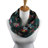 animal print shawls - 2016 Newly Design Women Ladies Owl Cartoon Print Scarf Warm Wrap Shawl O Neck Rings