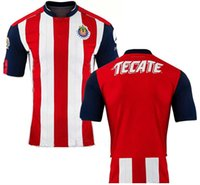 Wholesale 16 Mexico Club Deportivo Chivas Guadalajara BLANK Home Red White Stripes Soccer Jerseys REYNA Thai Quality Football Shirts Size S XL