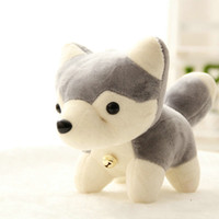 Plush baby toy companies - cartoon style LOVEly GRAY dog plush toys stuffed baby doll toys Company Activities doll on sale piece