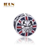 bangles uk - 925 Sterling Silver Beads Puppy Dog Enamel UK Charms Pendant For Women Fits Pandora Bangles Jewelry DIY Accessories Difts Hot Sale D187