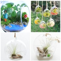 Wholesale Creative Hanging Glass Vase Succulent Air Plant Display Terrarium Small Hanging Glass Vase Air Plant Terrarium cm Gift L21