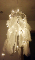 antique white bedroom - Newest Handmade Dream Catcher with Feathers Hanging Decoration Craft Gift White Room Decor adesivos para parede Dreamcatcher