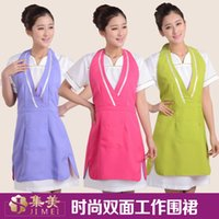 beauty salon apron - Beauty salon beautician overalls apron Double nail Korean version of the work of foreign trade fashion the princess