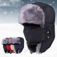 Wholesale 2016 New Winter fur hats Outdoor Windproof Thick warm winter snow women cap Face Mask Unisex cycling Trapper hats