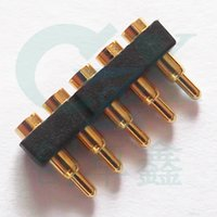 Wholesale SMT pin pogo pin connector mm brass pcb board to board connector gold plating for smart watch smart phone
