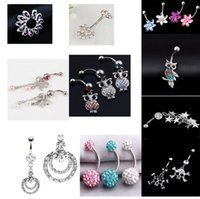 bell gauge - A010 newly mix styles as imaged belly ring gauge navel button ring piercing body jewelry navel belly ring fashion jewelry