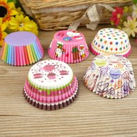 Wholesale Hot Selling Paper Cake Cups Liners Baking Cup Muffin Kitchen Cupcake Cases Cake Mould Decoration Tools Various Printing Rainbow Color