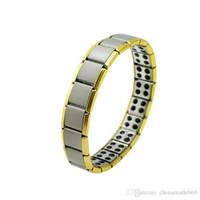Wholesale KK Health Bracelet Gold Anti Fatigue Germanium Titanium Bracelet Power Bangle For MEN WOMEN Health Reduce muscle tension