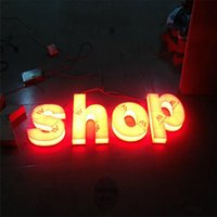 Wholesale Factoy Outlet Custom high brightness Outdoor Full Acrylic led light up letters for shop restaurant name