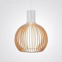 Wholesale Modern Led Wooden Pendant Lights Minimalist Cage Home Furnishing Decorative pendant Lamp for dining room bar indoor lighting