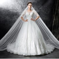 beautifull garden - Jewel court train sleeve organza Applique convered button beads lace beautifull A Line Wedding Dresses